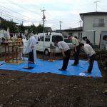 矢巾の現場で地鎮祭が行われました。